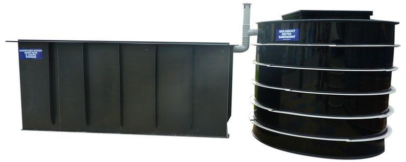 Zemní štěrkopískový filtr a samonosný septik